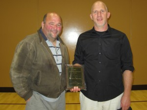 Jim & Pat Donahue accepting the award